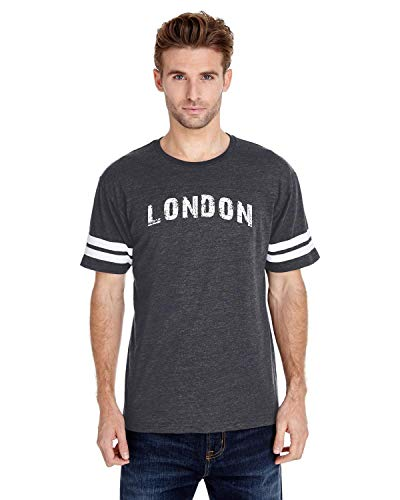 Mom`s Favorite London City UK Europe Traveler Gift Adult Unisex Football Fine Jersey Tee (LHNB) Heather -