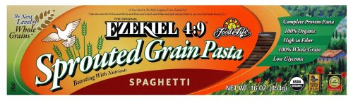 Food For Life Ezekiel 4:9 Organic Sprouted Grain Pasta, Spaghetti, 16-Ounce Boxes (Pack of 6) by Food for Life