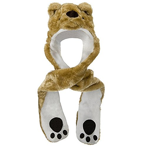(ML Animal Costume Hat with Mittens - Bear Dk. Khaki)