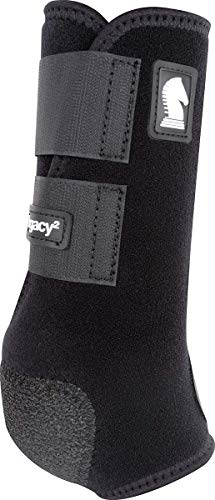 Classic Equine Legacy2 System Front Boot (Solid), Black, - Neoprene Fetlock Boots