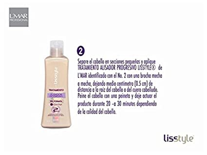 Amazon.com : Lisstyle Step 2 Straightener Blowout +Repair Keratin Aminoacids Lmar No FORMOL Paso 2 Tratamiento Alisador Progresivo Pro-Repair +Queratina ...