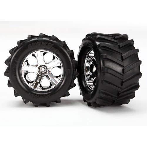 (Traxxas Maxx Tires, 2.8 All-Star Chrome Wheels: ST 4x4)