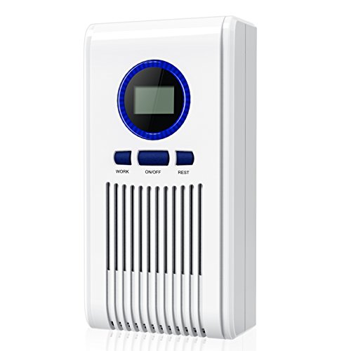 TISKY Portable Mini Plug-in Ionic Air Purifier, Small Ozone Generator Air Ionizer, Odor Eliminator for Allergens Mold Germs Smoke Home Office and Travel