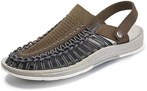 夏のメンズビーチシューズアウトドアメンズカジュアルシューズサンダルつま先織りサンダルスリッパアメリカの靴のサイズ