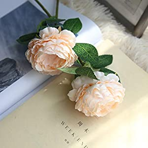 Rm.Baby 1Pcs Artificial Fake Flowers Rose Peony Floral Real Touch Cloth Material Arrangement Bouquets Bridal Hydrangea Home Garden Decor Room Office Centerpiece Party Wedding Decor 8
