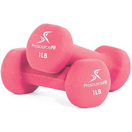 ProsourceFit Set of 2 Neoprene Dumbbell Coated for Non-Slip Grip, 1 lb-12 lb
