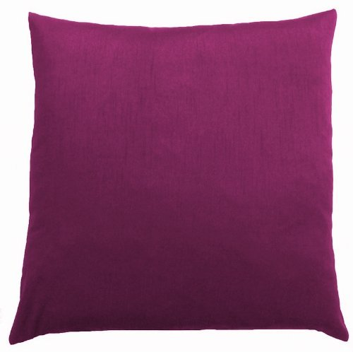 DreamHome - Solid Faux Silk Decorative Pillow Cover/sham (18x18, Raspberry) (Pillow Throw Groupings)