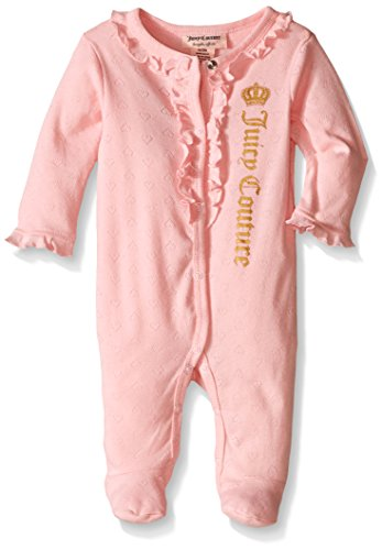 Juicy Couture Baby Girls Sleeper - Heart Pointelle Print