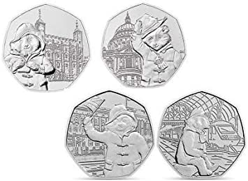 Taken from sealed Royal Mint bags 50p 2018 Paddington Bear at The Station AND at The Palace coins Uncirculated