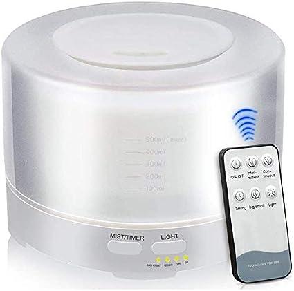 ディフューザー超音波気化器7色、6メートルまでの香りディフューザー遠隔超音波エアフィルターをLED精油ディフューザー