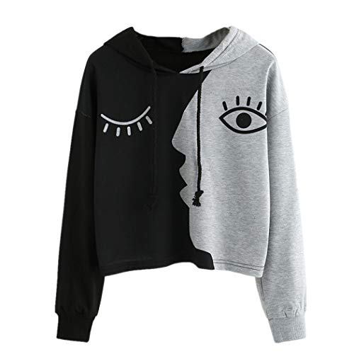 Amazon.com: Clearance! Women Long Sleeve Hoodie Sweatshirt Daoroka Patchwork Short Autumn Winter Tops (3XL, Gray): Toys & Games