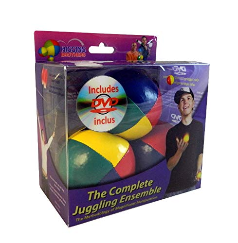 Higgins Brothers Juggling Balls set of 3 and How to Juggle DVD - The Complete Juggling Ensemble