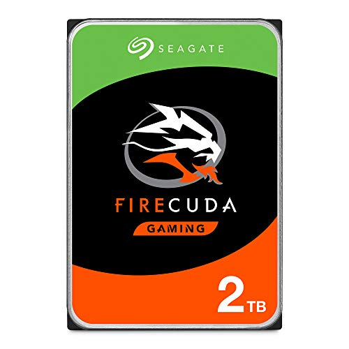 Seagate FireCuda 2TB Solid State Hybrid Drive Performance SSHD - 3.5 Inch SATA 6Gb/s Flash Accelerated for Gaming PC Laptop Frustration Free Packaging (ST2000DX002) (Best Internal Hard Drive For Gaming)