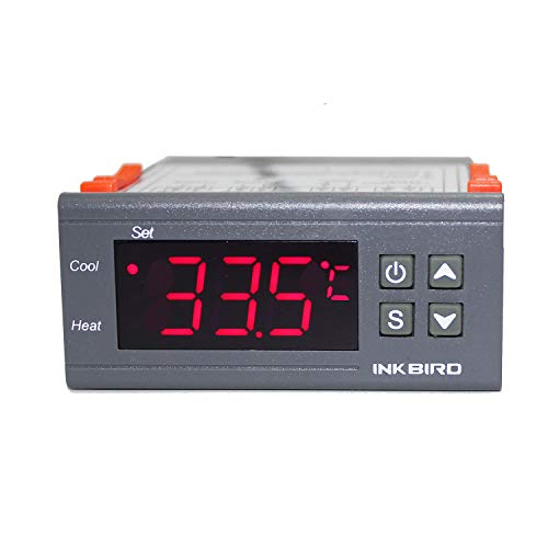 Inkbird All-Purpose Digital Temperature Controller Fahrenheit &Centigrade Thermostat w Sensor 2 Relays ITC-1000 ()