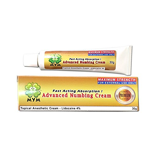 MyM New Numb Cream 30g For Tattoo/Removal Waxing Piercing Derma Rolling