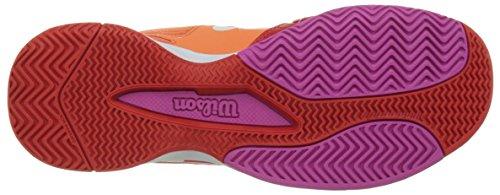 Wilson WRS322270E075, Zapatillas de Tenis para Mujer, Varios Colores (Multicolor / Nasturtium / Fiery Red / Rose Violet), 41 1/3 EU