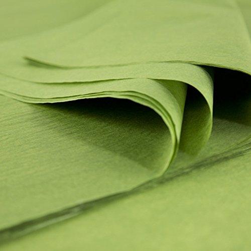 Fogli di carta di seta Premium, the verde, 24 fogli di 50 cm x 75 cm, 18 Grammi, produce in Francia 24fogli di 50cm x 75cm 18Grammi Rdie