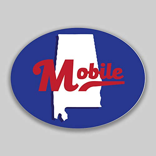 JB Print Mobile Alabama Oval Vinyl City Town College University Vinyl Decal Sticker Car Waterproof Car Decal Bumper Sticker 5