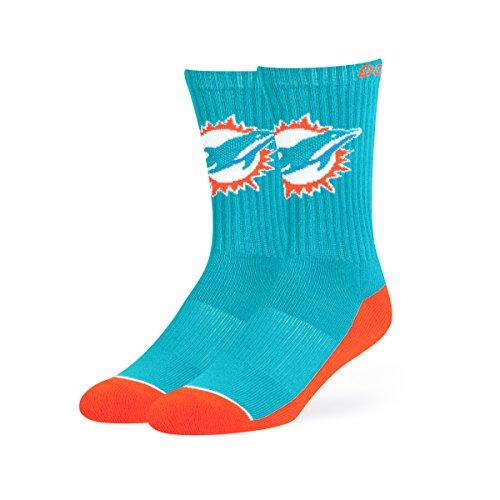 NFL Miami Dolphins OTS Anthem Sport Sock, Neptune, Large