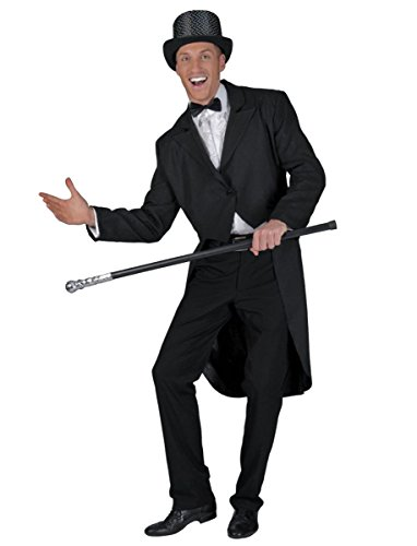 UHC Men's Tailcoat Magician Circus Ring Masters Dancer Outfit Halloween Costume, L (46-48)