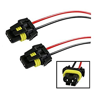 iJDMTOY (2) 900-Series 9005 9006 Female Adapter Wiring Harness Sockets Wire Compatible With Headlights Fog Lights: Automotive