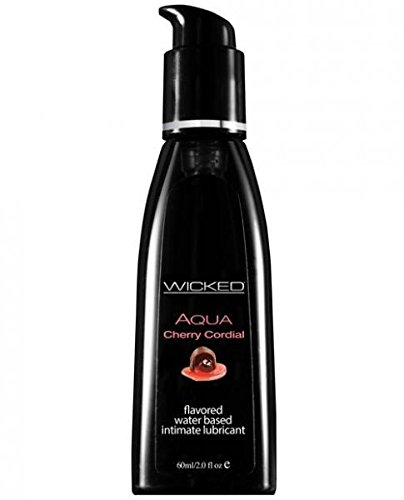 Wicked Sensual Care Aqua Lubricant, Cherry Cordial, 2 Fluid Ounce by Wicked Sensual Care