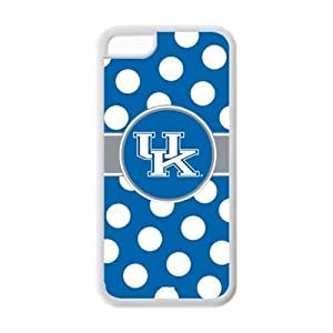 iPhone 5C Case - NCAA University Of Kentucky Wildcats With Polk Dots HD Apple iPhone 5C (Cheap IPhone 5) TPU case covers