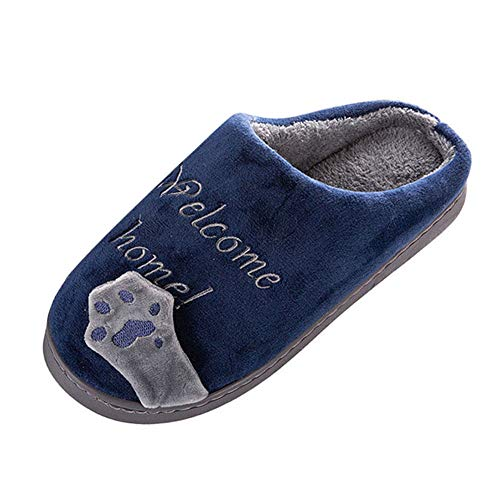 Cartoon Indoors Winter Warm Intérieur Women Mesdames Bedroom Chat Slippers Floor Animé Anti Non Hiver Home Coton Rawdah Chaud Cat Shoes dérapant Marine Maison Chaussures slip Chaussons 71qORnAca
