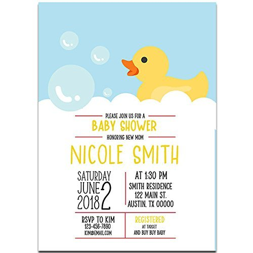 Rubber Ducky Baby Shower Party Invitations ()