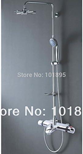 ZY-YY 蛇口小売 - ラグジュアリーブラスサーモスタットシャワーの蛇口のミキサーのタップ、壁掛け X9021SS1、ライトグレー