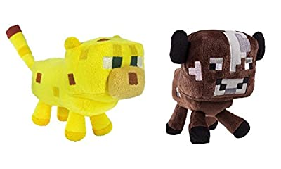 Minecraft Plush Set, 6-8 Inches from Mojang