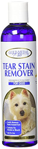 Gold Medal Pets Tear Stain Remover for Dogs, 8 oz. (Removal Tear Stain)
