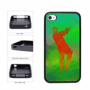Cricket Game on Green Background TPU RUBBER Phone Case Back Cover Apple iPhone 6 plus 5.5 includes diy case Cloth and Warranty Label