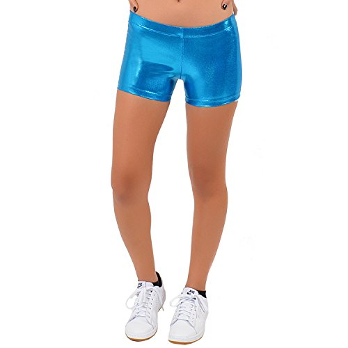 Stretch is Comfort Women's Mystique Booty Shorts Turquoise X-Large