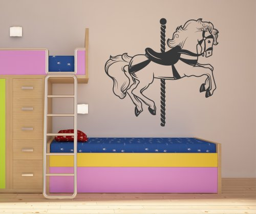 Vinyl Wall Decal Sticker Carousel Horse OS_MB186s