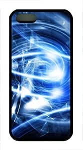 iPhone 5 5S Case Abstract Blue Art TPU Custom iPhone 5 5S Case Cover Black by lolosakes