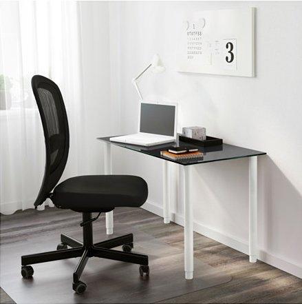 IKEA OLOV Adjustable Metal Table Legs - Steel, White [Set of 4] by IKEA (Image #3)