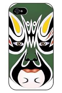 SPRAWL New Fashion Design Hard Skin Case Cover Shell for Mobilephone Apple Iphone 5 5S--green peking opera face
