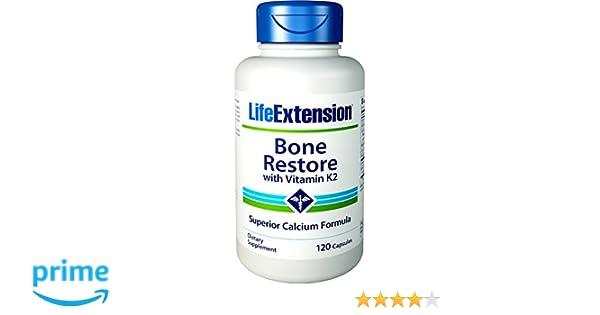 Life Extension, Bone Restore, With Vitamin K2, 120 Capsules: Amazon.es: Salud y cuidado personal