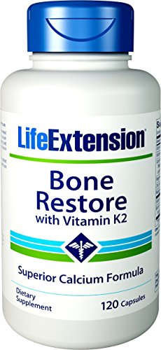 Life Extension Bone - Life Extension Bone Restore with Vitamin K2, 120 Capsules