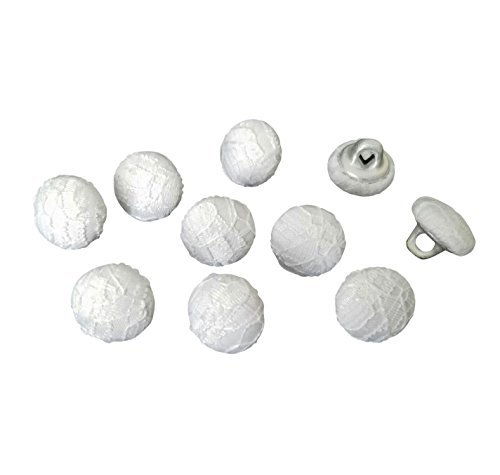 Nakpunar White Lace Bridal Buttons - Set of 10 - 7/16
