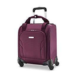 Travel Junkie 41VNCMnxE7L._SS247_ Samsonite Underseat Carry-On Spinner with USB Port, Purple, One Size