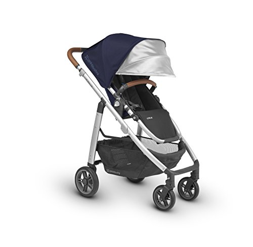 UPPAbaby CRUZ Stroller, Indigo/Silver/Leather, Taylor by UPPAbaby
