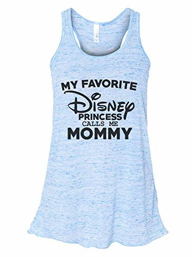- Women's Tank Top Bella Soft My Favorite Disney Princess Calls Me Mommy Medium, Blue