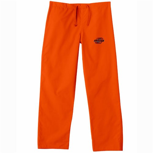 Oklahoma State Cowboys NCAA Classic Scrub Pant (Orange) (2X Large) by Gelscrubs