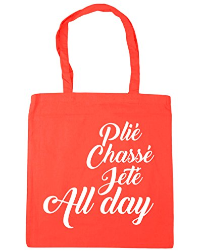 Jeté Beach litres Shopping Tote Gym HippoWarehouse Chassé 10 All Day Ballet Plié 42cm x38cm Coral Bag qnwzUHE0