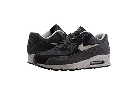 NIKE Women Air Max 90 SE Black Black-Dark Grey-Cobblestone Size 8.0 US