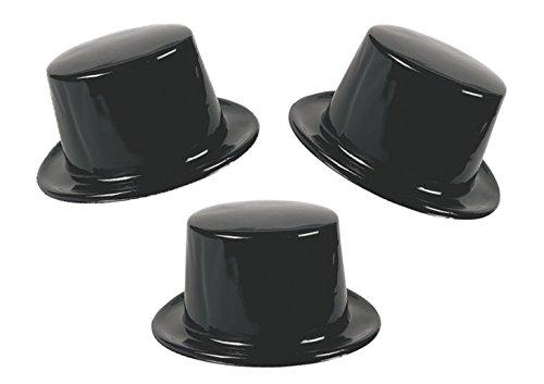 Black Plastic Hats Party Favors