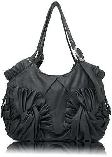 """Grey LandS """"Pleated Knots"""" Hobo, Bags Central"""