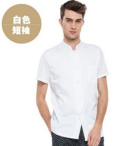 Geranjie Chef Short Sleeve Black Hotel West Restaurant Blonde Clothing Men And Women Picture